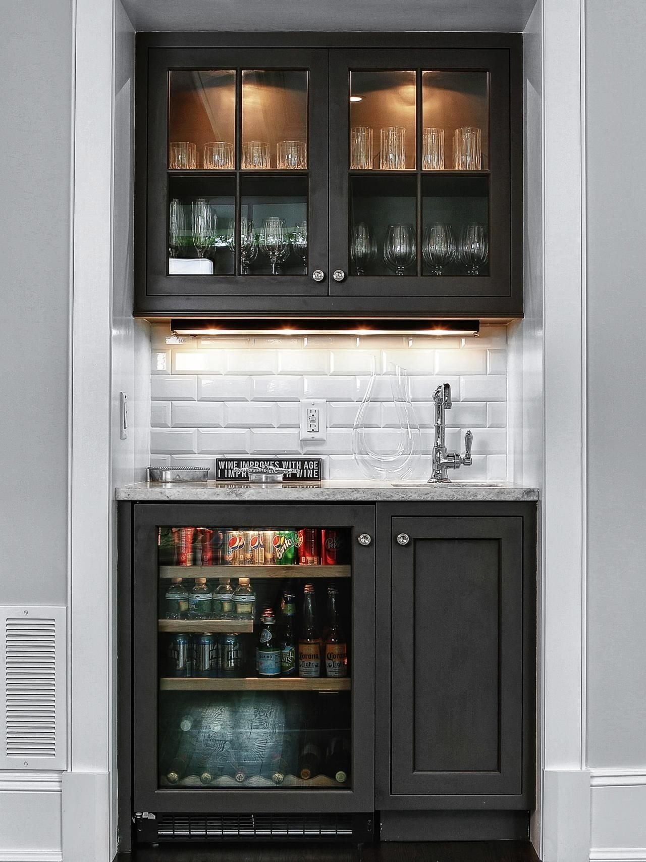 10 Elegant Basement Bar Ideas For Small Spaces 15 stylish small home bar ideas remodeling ideas hgtv and basements 1 2020
