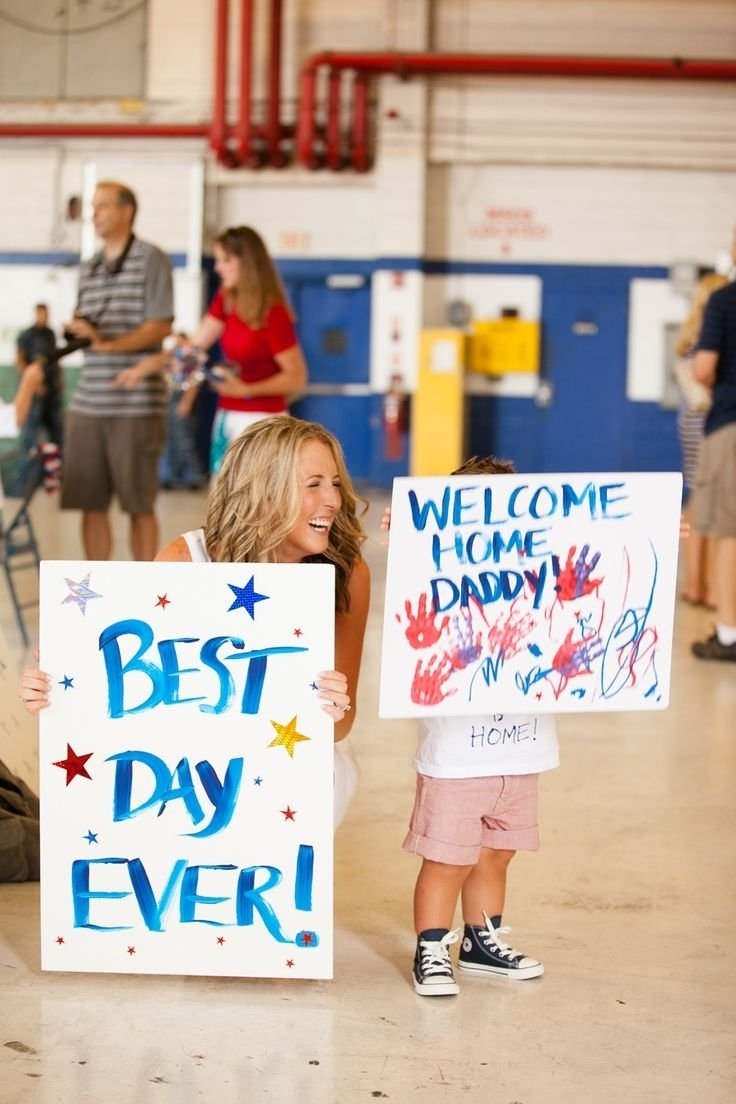 10 Unique Welcome Home Sign Ideas For Military 151 best welcome home signs ideas for military homecomings images 2 2021