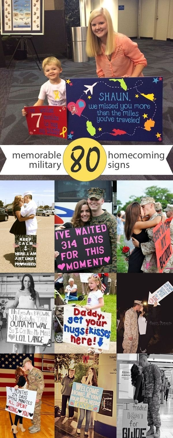 10 Unique Welcome Home Sign Ideas For Military 151 best welcome home signs ideas for military homecomings images 3 2021