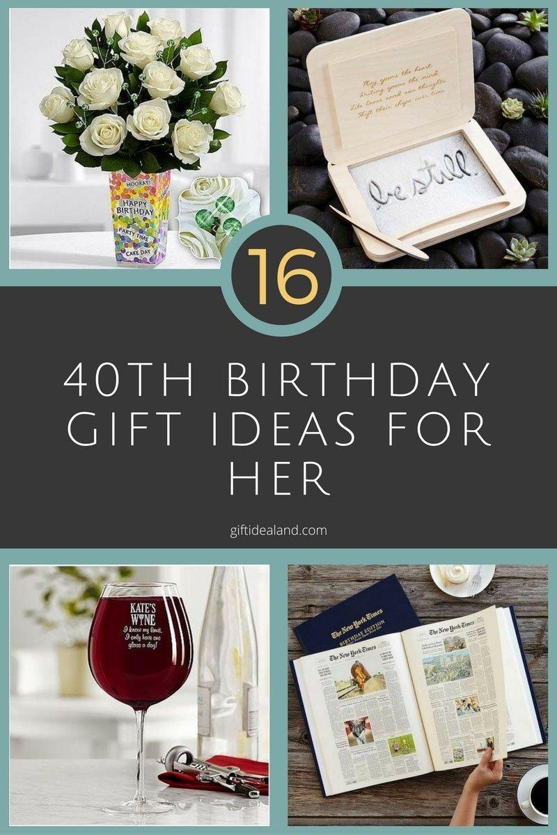 10 Beautiful 40Th Birthday Gift Ideas For Women 16 good 40th birthday gift ideas for her 8