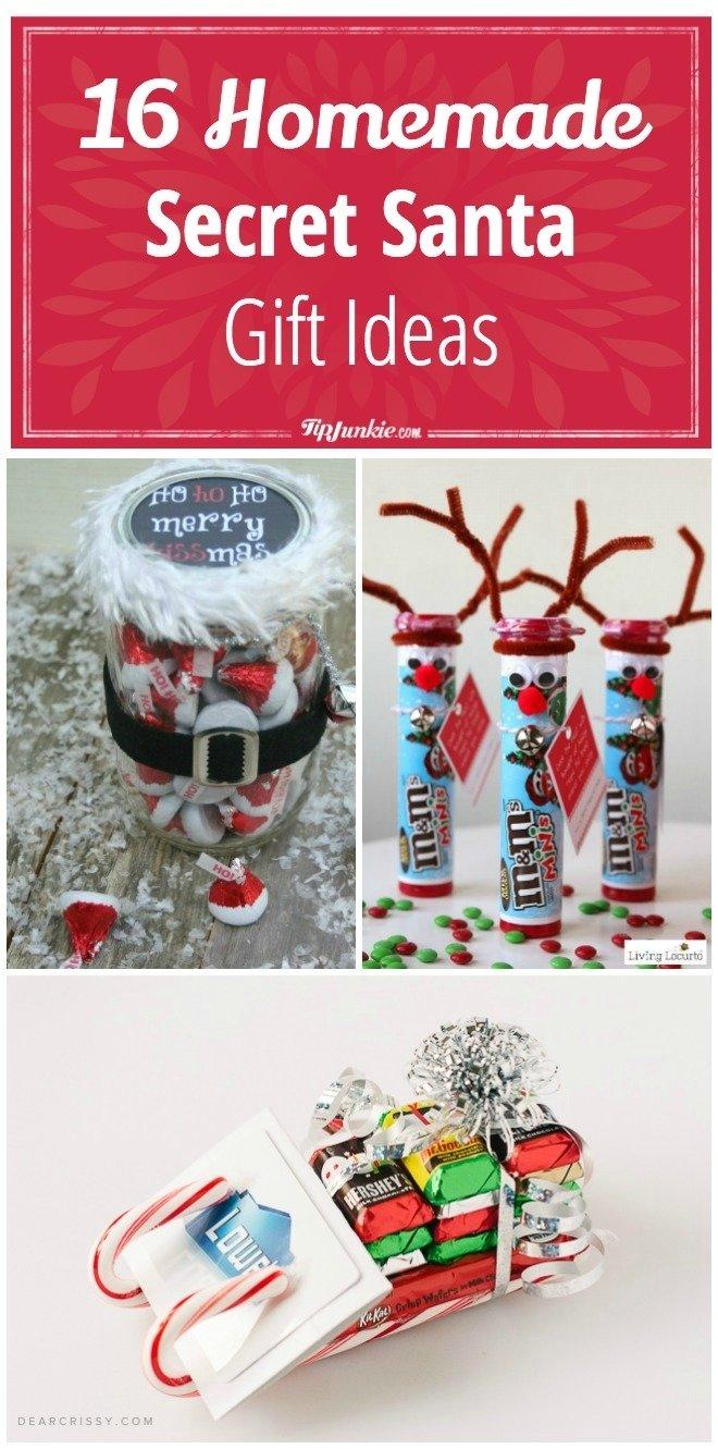 10 Fantastic Secret Santa Ideas For School 16 homemade secret santa gift ideas tip junkie 2020