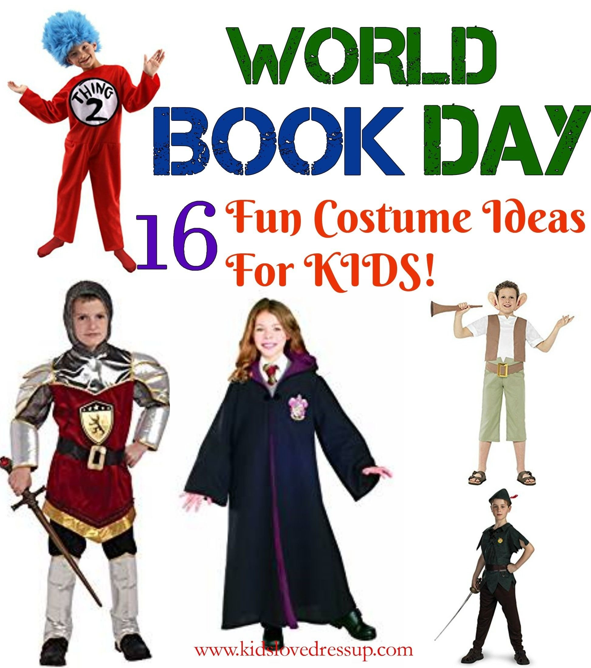 10 Stylish Book Character Dress Up Ideas 16 kids world book day costumes ideas for book character dress up