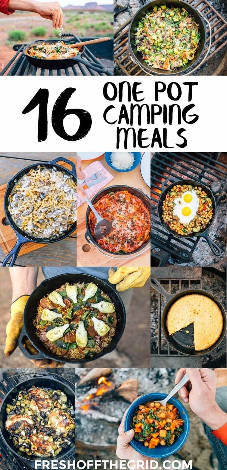 10 Most Recommended Camping Dinner Ideas For Large Groups 16 one pot camping meals fresh off the grid 2021