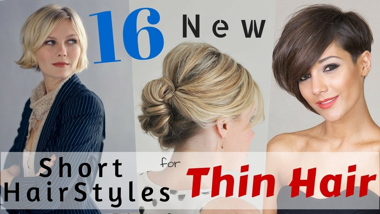 10 Lovely Hair Ideas For Thin Hair 16 short hairstyles for thin hair 2015 youtube 2020