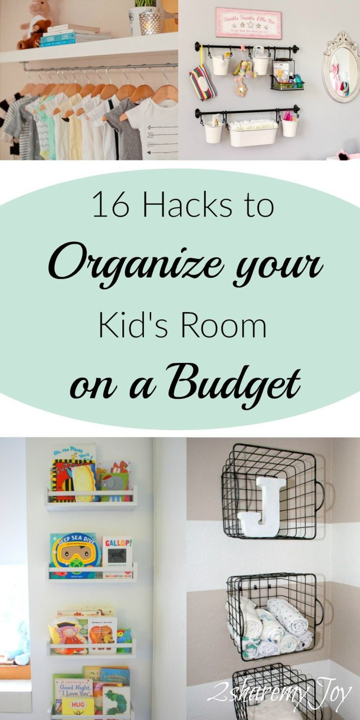 16 simple nursery/kid's room organizing diy hacks | organization