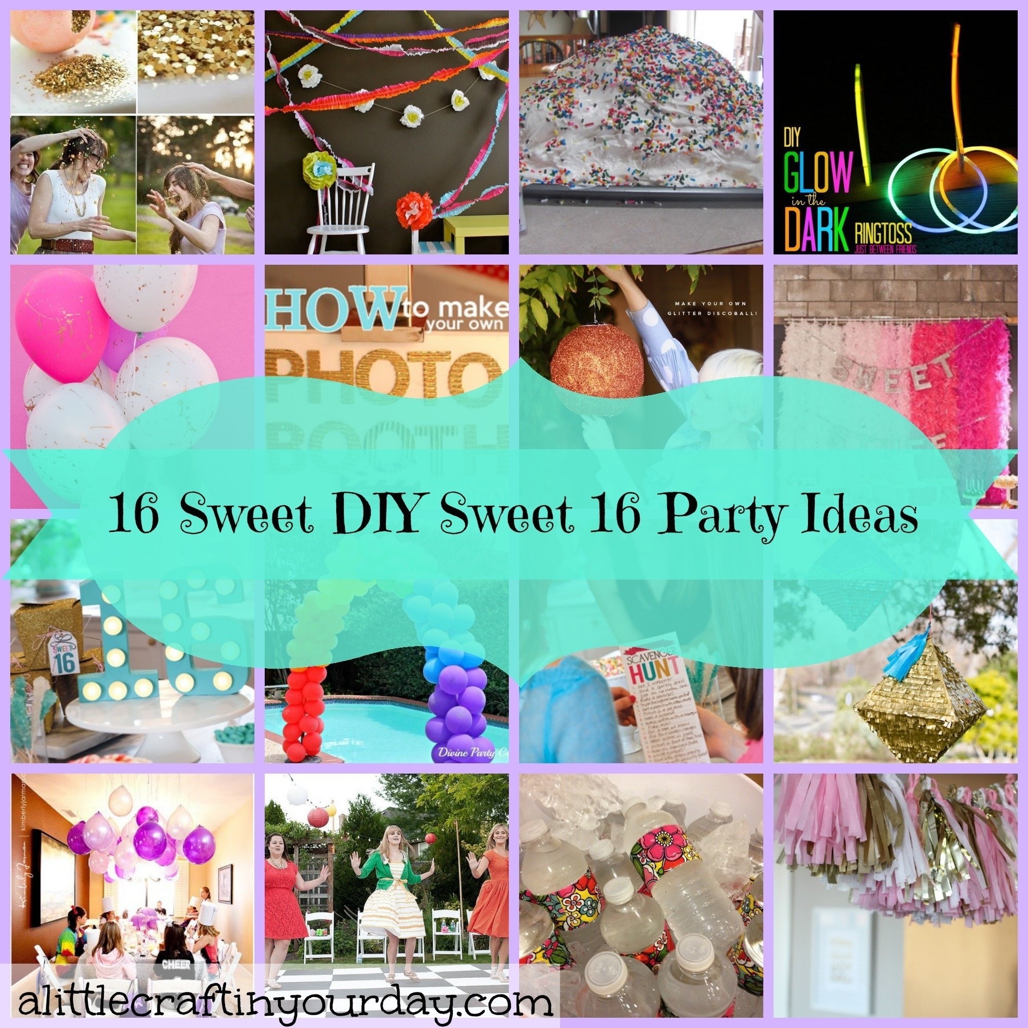 10 Pretty Sweet 16 Birthday Gift Ideas 16 sweet diy sweet 16 party ideas a little craft in your day 4