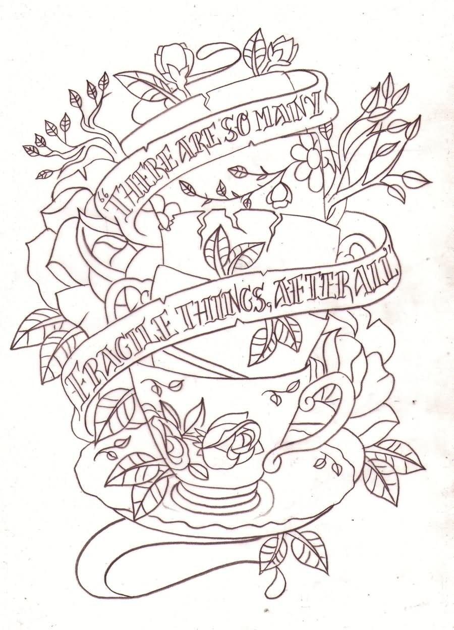 10 Trendy Alice In Wonderland Tattoo Ideas 17 alice in wonderland teacup tattoos 1 2021