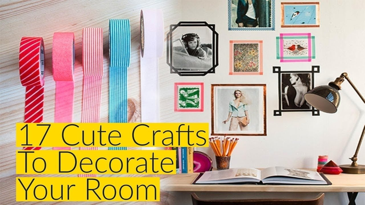 10 Most Popular Crafty Ideas For Your Room 17 cute crafts to decorate your room youtube 2020