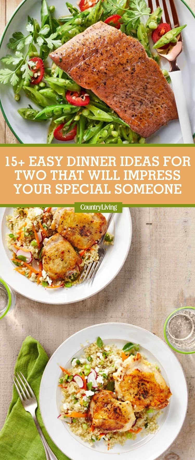17 easy dinner ideas for two - romantic dinner for two recipes