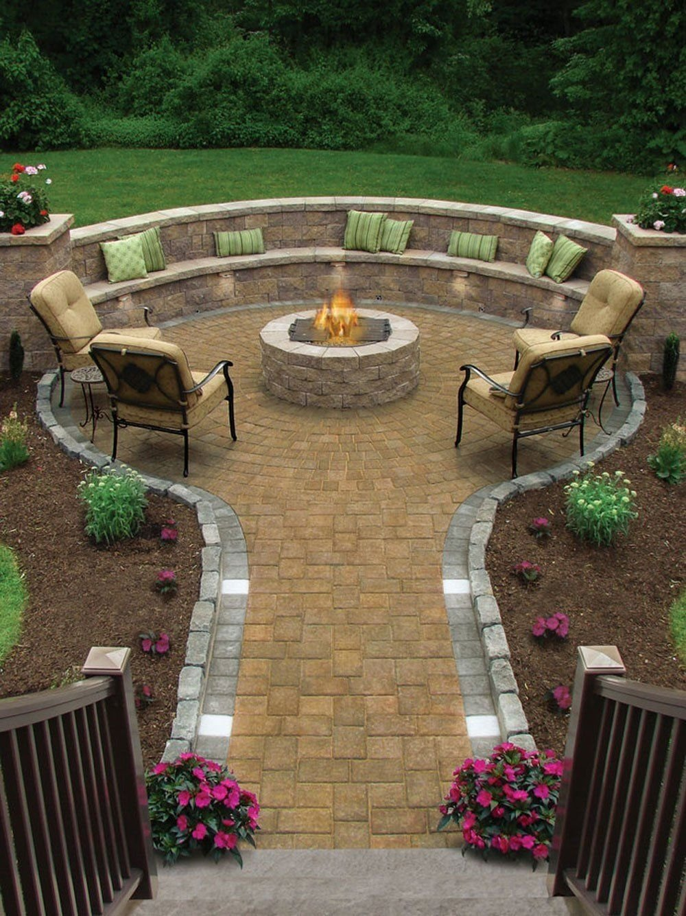 10 Lovely Patio Ideas With Fire Pit 17 of the most amazing seating area around the fire pit ever 1