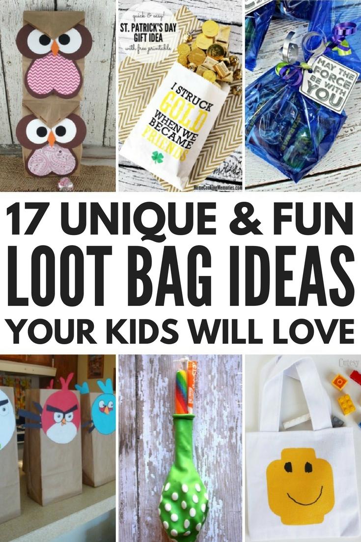 10 Wonderful Birthday Party Goodie Bag Ideas