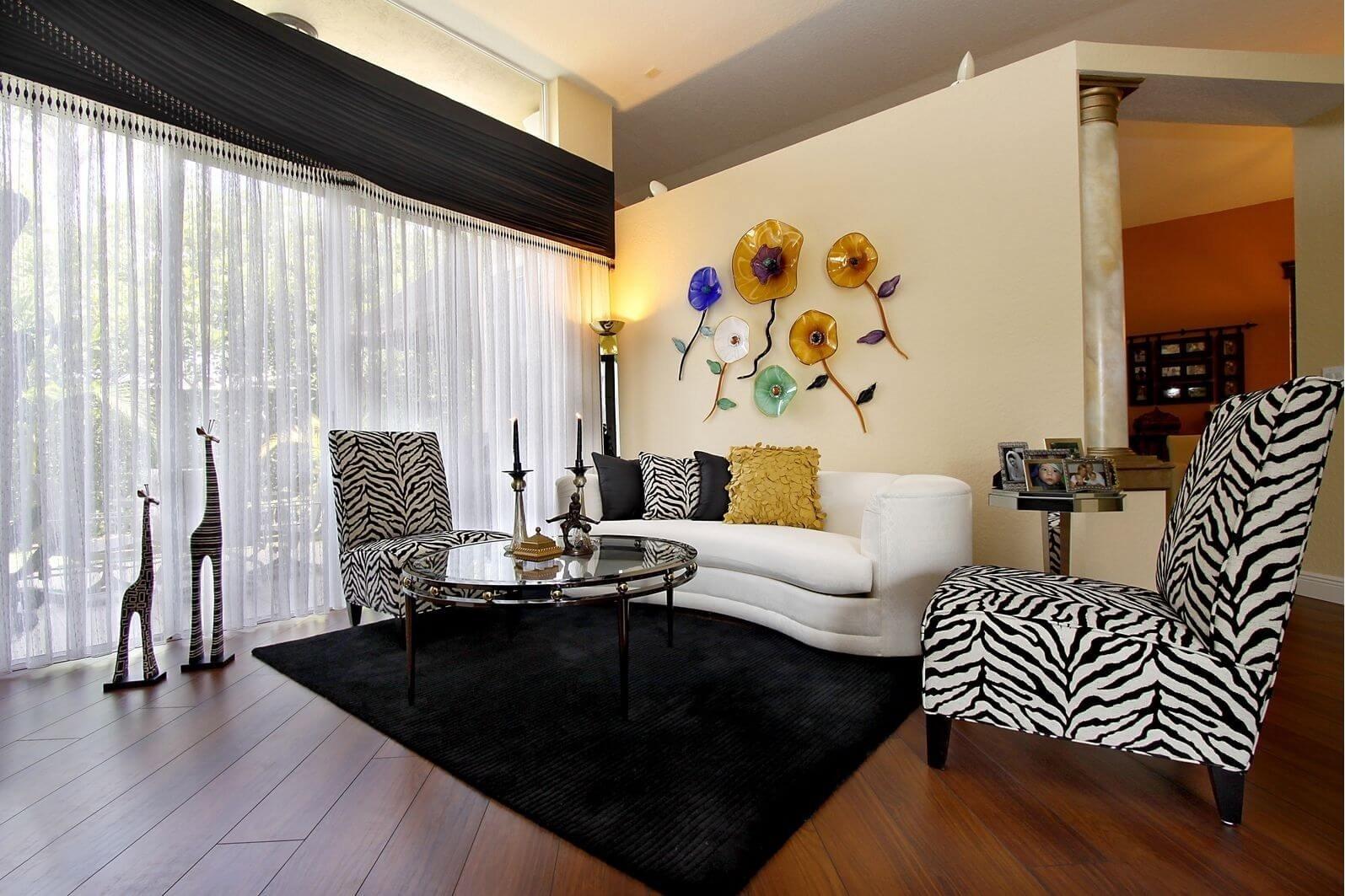 10 Lovely Animal Print Living Room Ideas 17 zebra living room decor ideas pictures 2020