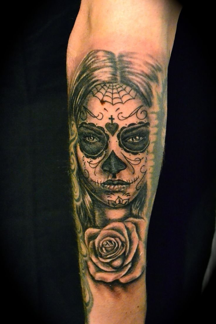 18 best day of the dead tattoos images on pinterest | sugar skull