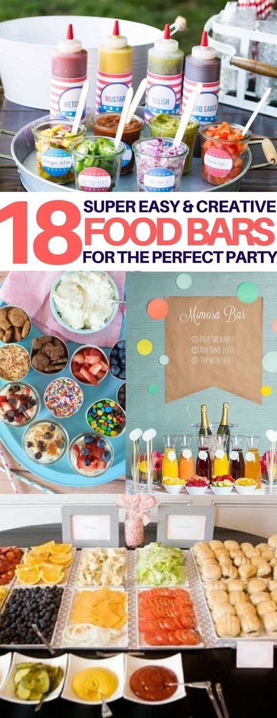 10 Cute Creative Bridal Shower Food Ideas 18 best food bar ideas perfect for your next party soiree et fetes 2020