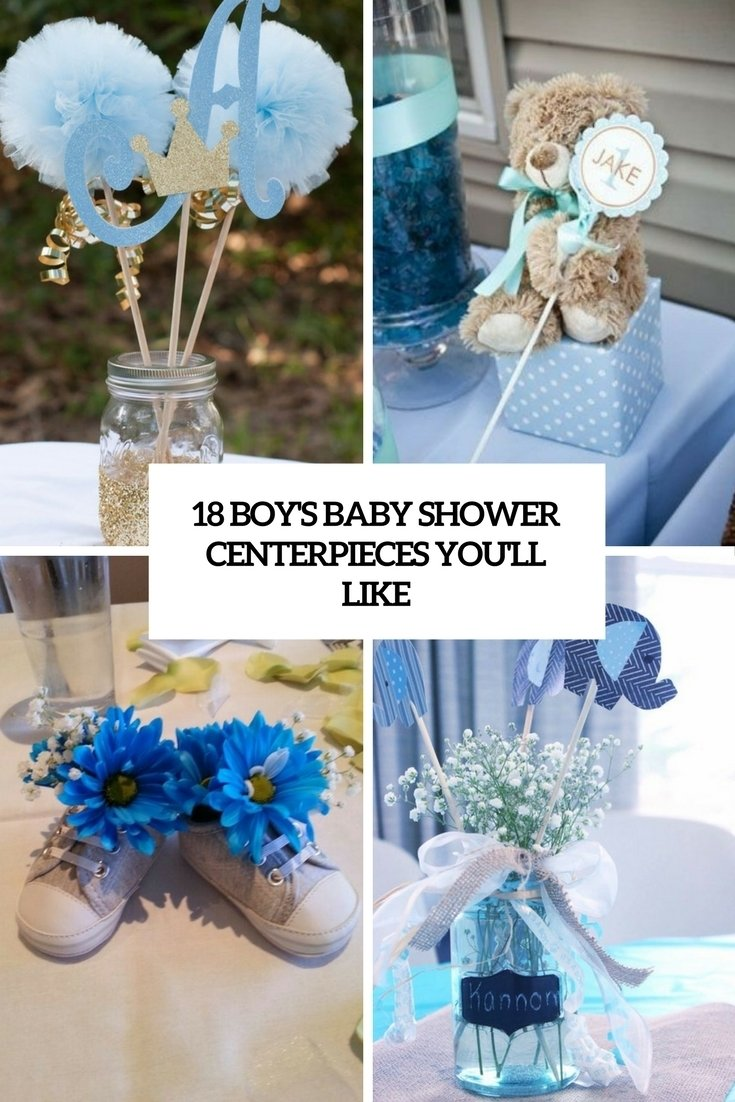 18 boys' baby shower centerpieces you'll like - shelterness