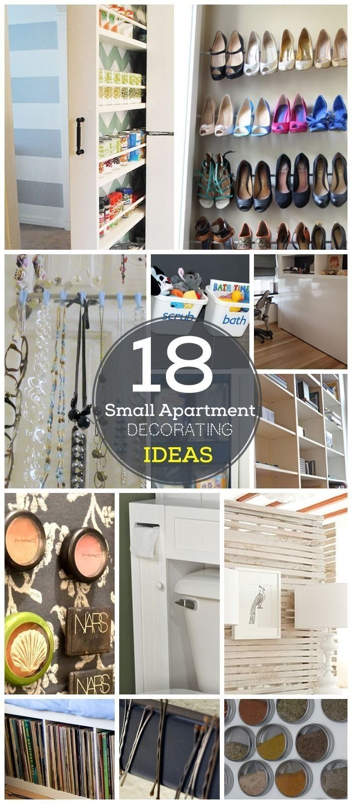 10 Attractive Diy Organization Ideas For Small Spaces 18 diy small apartment decorating ideas click for tutorials diy 2020