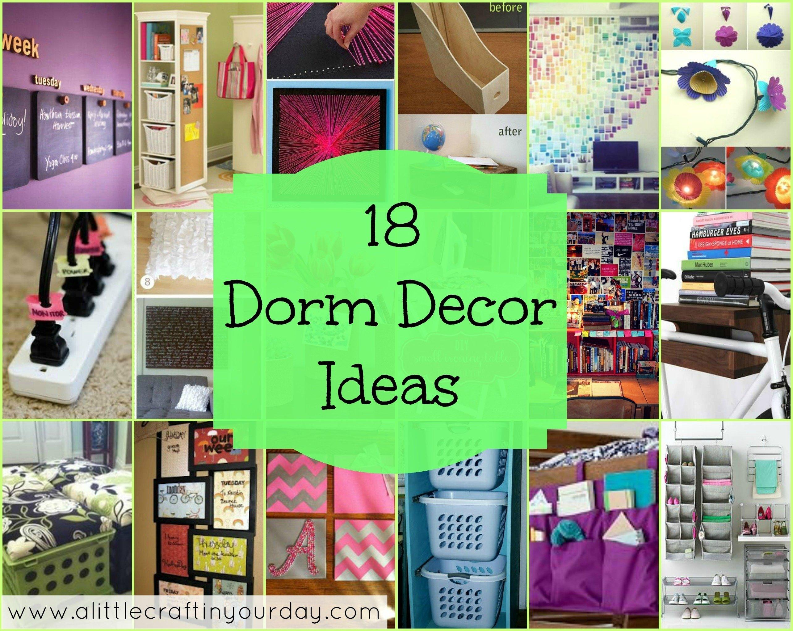 10 Cute Dorm Room Decorating Ideas Diy 18 dorm decor ideas a little craft in your day 1