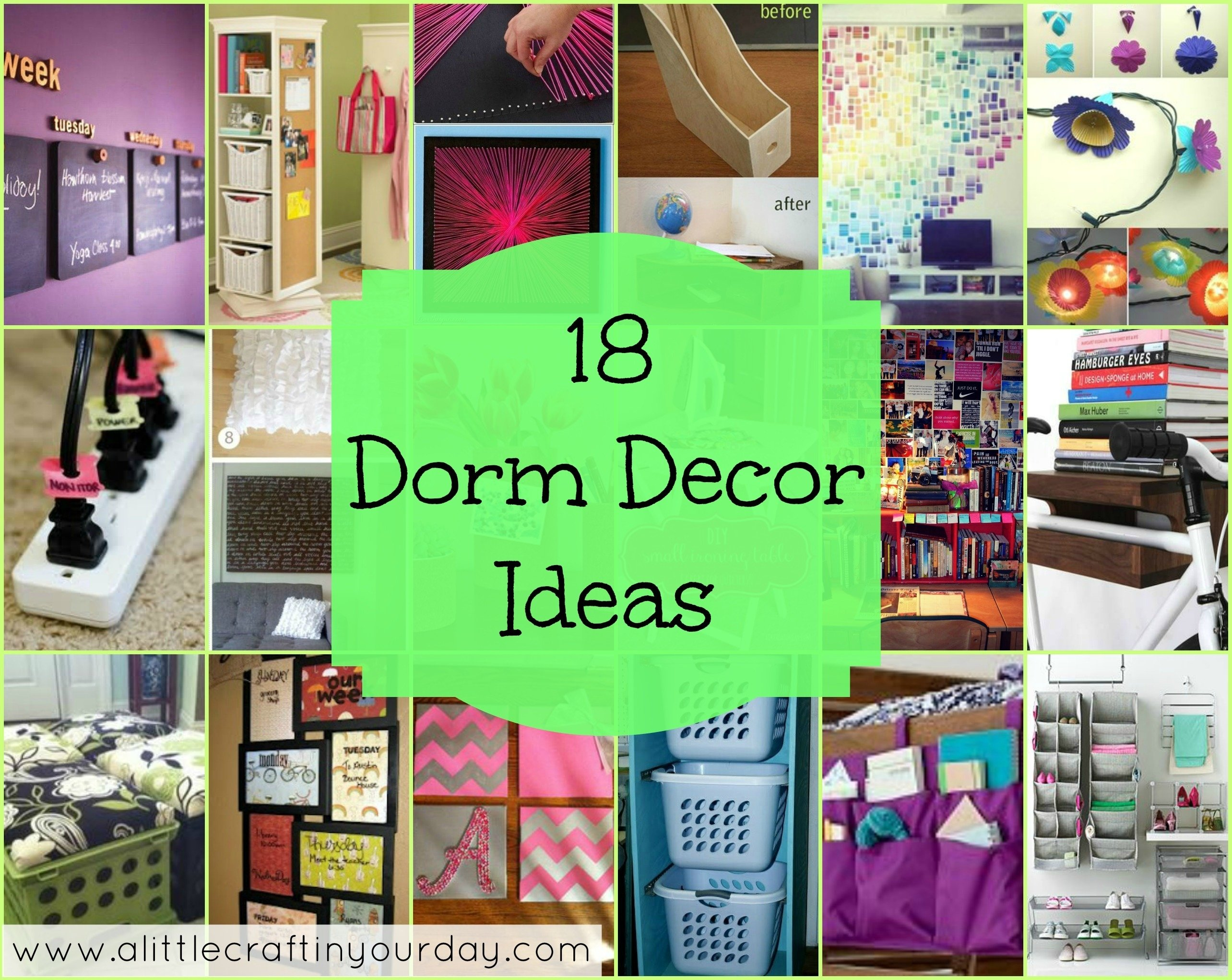 10 Most Popular College Dorm Room Decorating Ideas 18 dorm decor ideas a little craft in your day 2021
