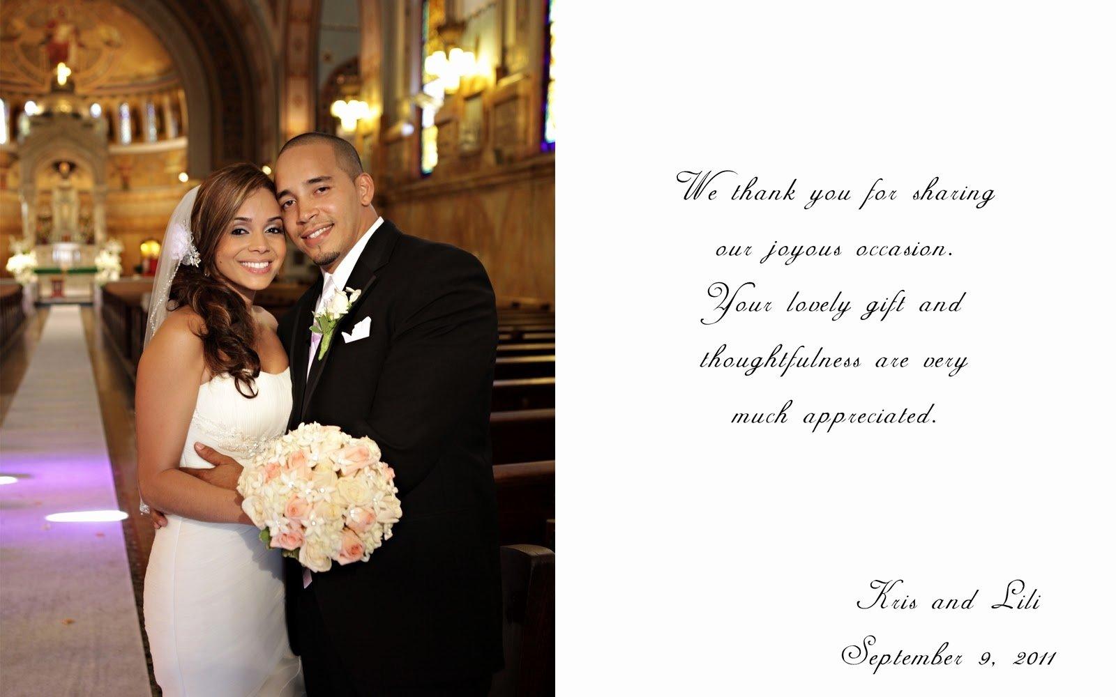 10 Lovely Wedding Thank You Card Ideas 18 fresh wedding thank you card wording wedding idea with keyword 2020