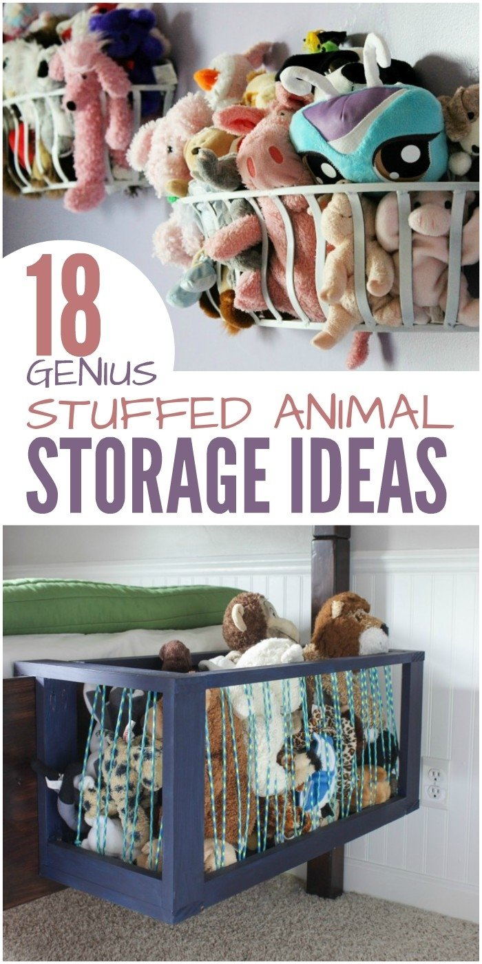 10 Spectacular Ideas For Stuffed Animal Storage 18 genius stuffed animal storage ideas 1 2021