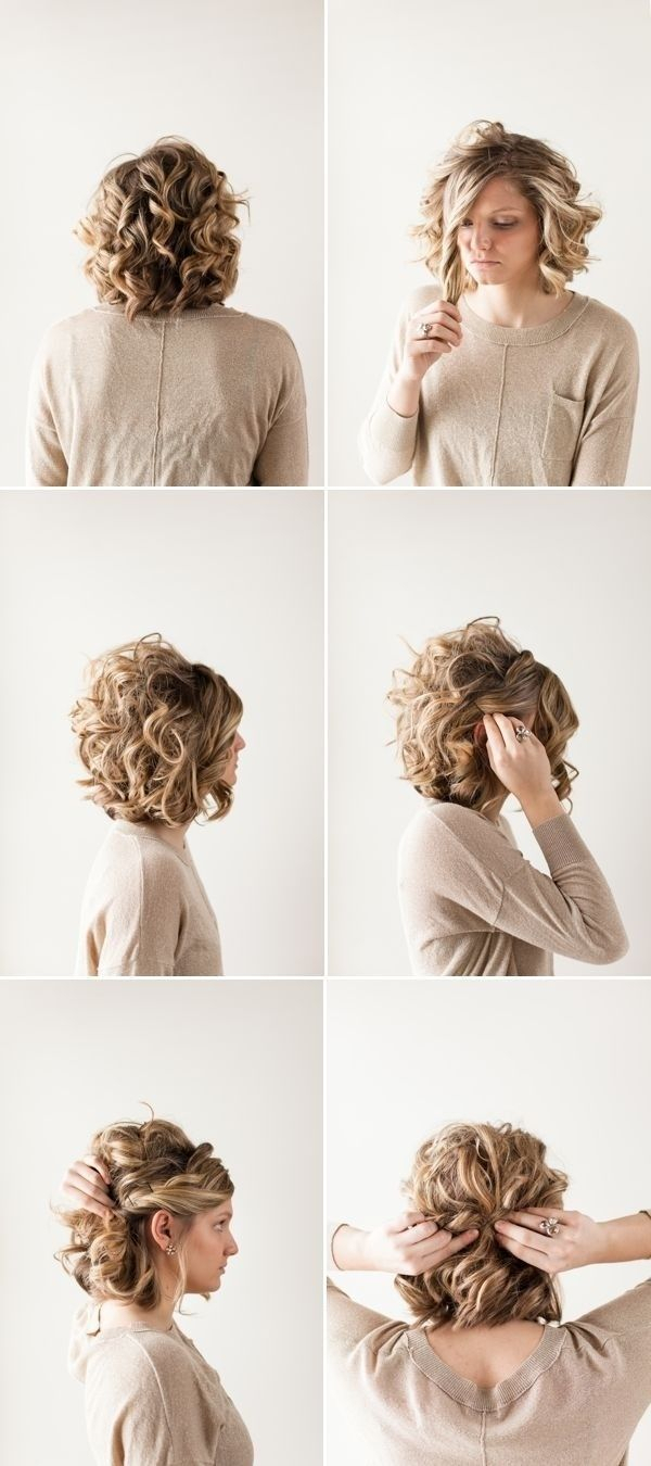 18 pretty updos for short hair: clever tricks with a handful of