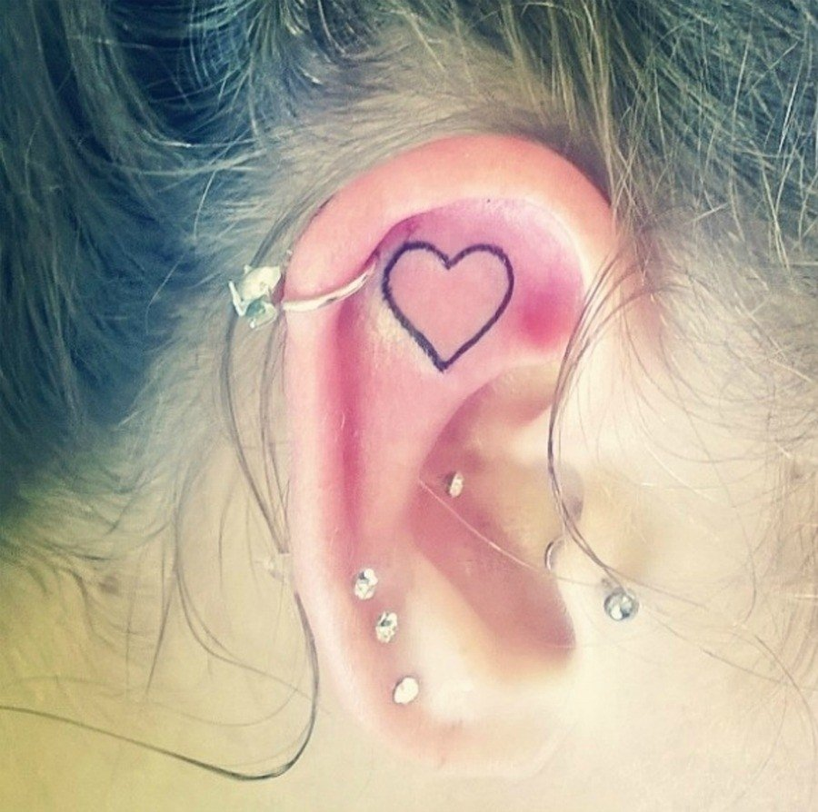 10 Fashionable Cute Piercing Ideas For Girls 18 tiny inner ear tattoos that are prettier than any piercing glamour 2021