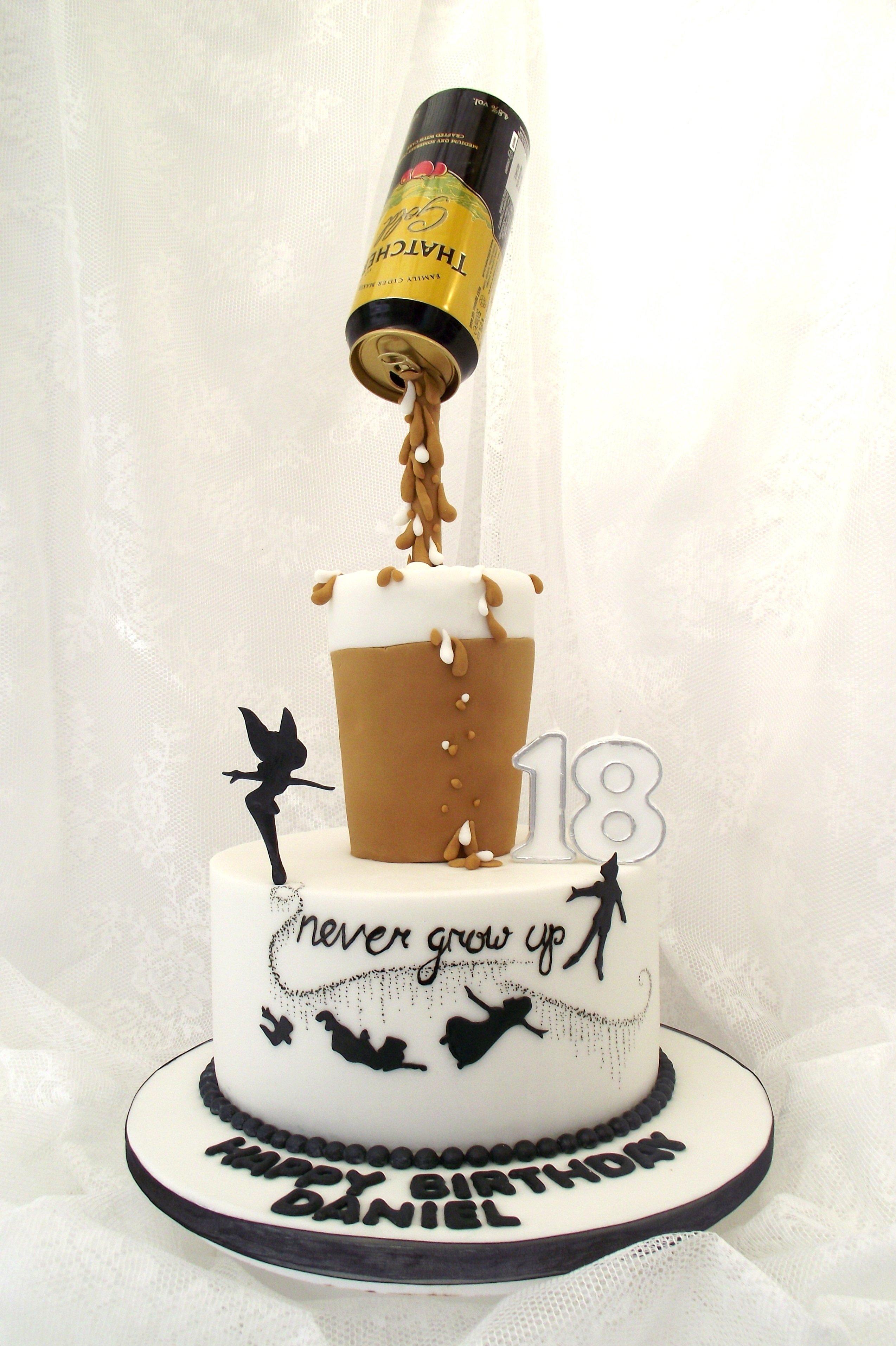 10 Unique 18Th Birthday Ideas For Boys 18th Cake My Son Thatchers 18thbirthday