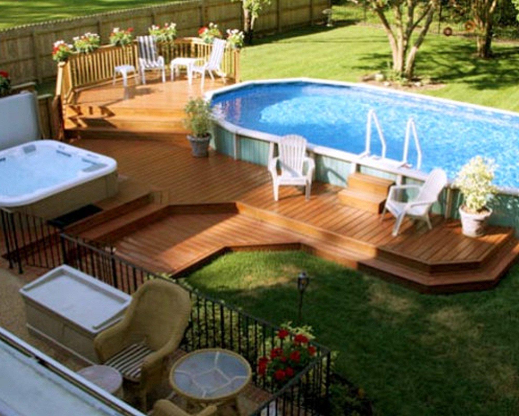 10 Stylish Above Ground Pool Landscape Ideas 19 above ground pool landscaping electrohome with above ground pool 2020