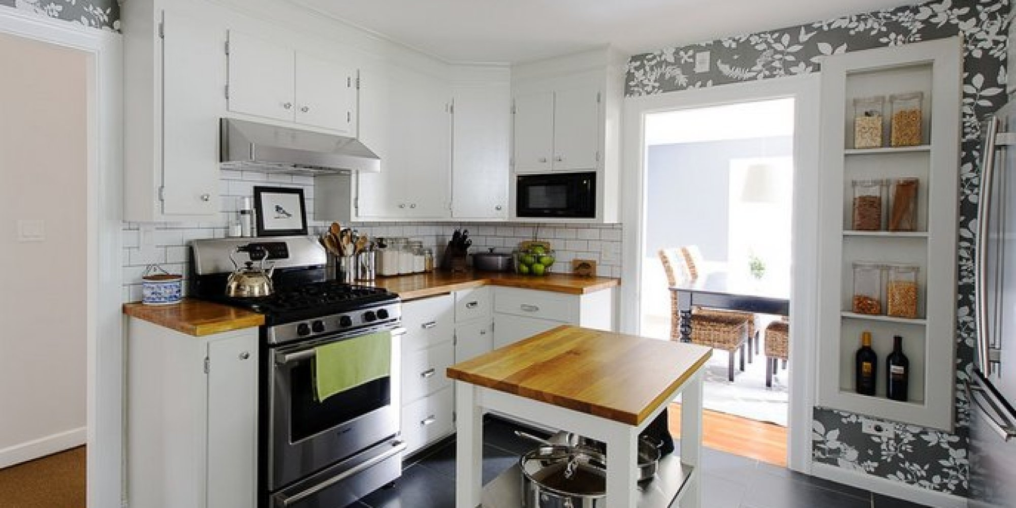 10 Attractive Kitchen Ideas On A Budget 19 inexpensive ways to fix up your kitchen photos huffpost 2 2020
