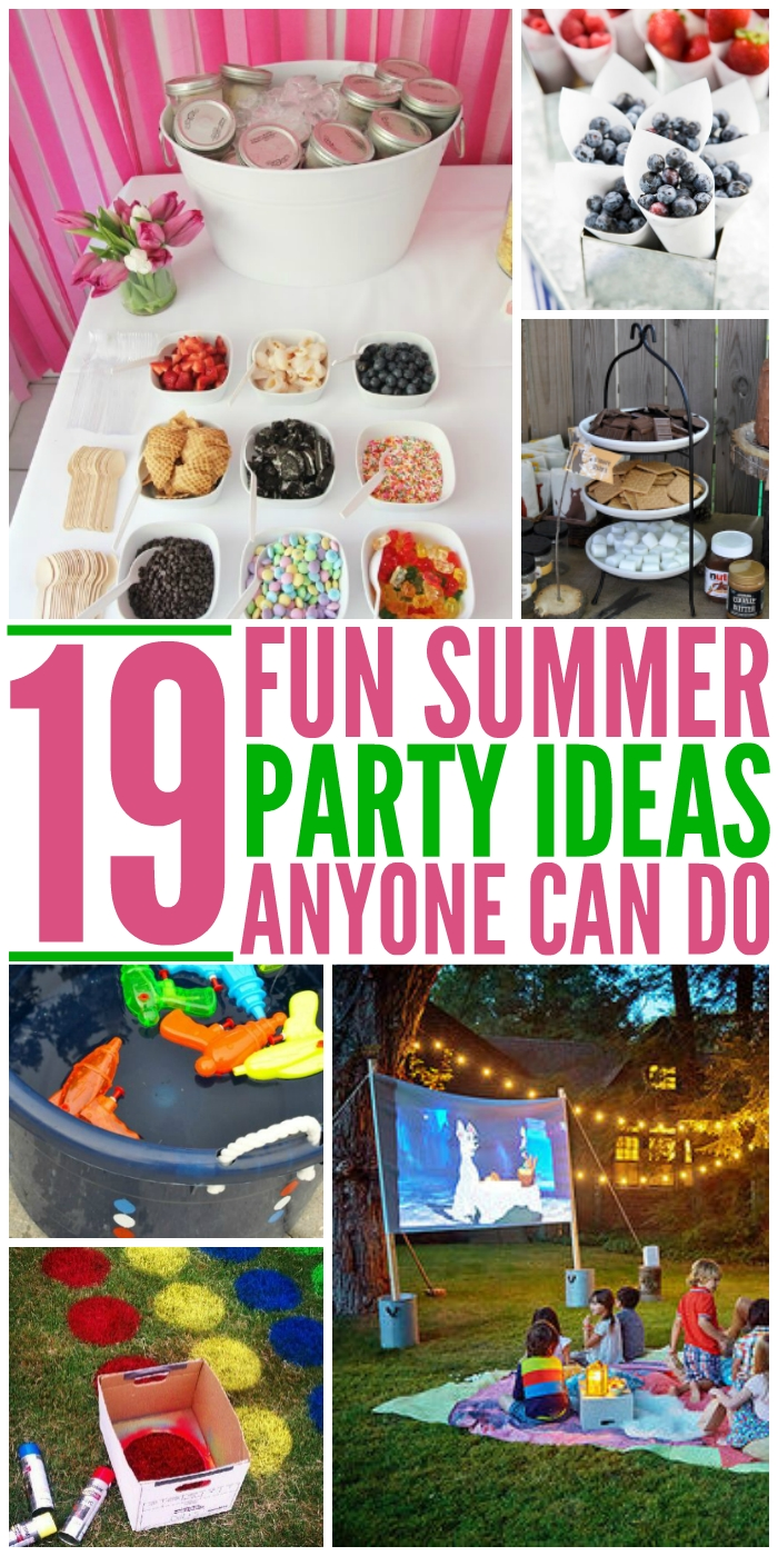 10 Fabulous Great Party Ideas For Adults 19 summer party ideas anyone can do 2020