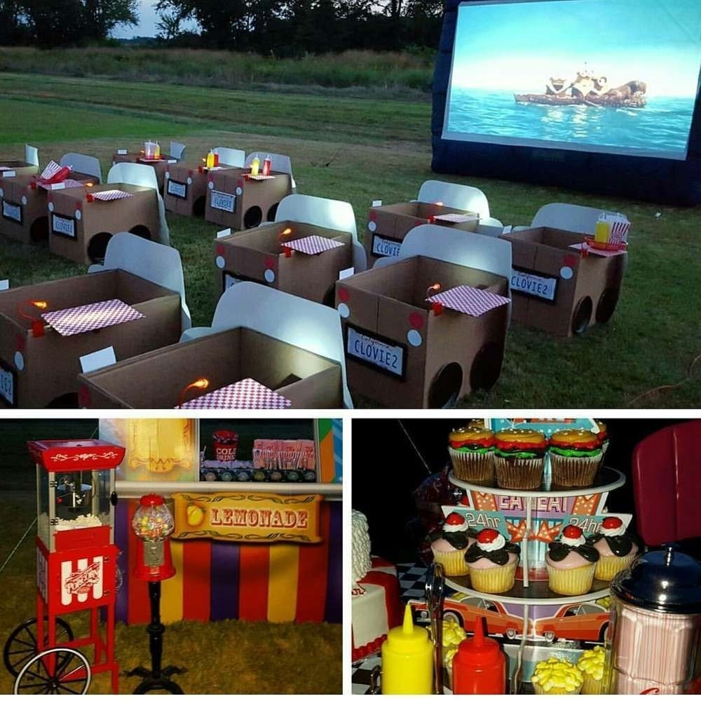 10 Most Popular Movie Night Ideas For Kids 1950s drive in birthday party ideas movie party movie and 2021
