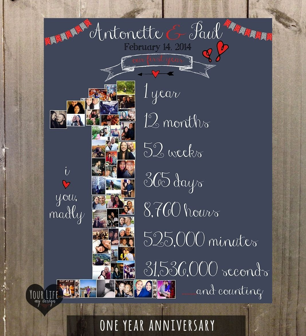 10 Awesome 14 Year Anniversary Gift Ideas 1st anniversary anniversary photo collage anniversary gift for 8 2020