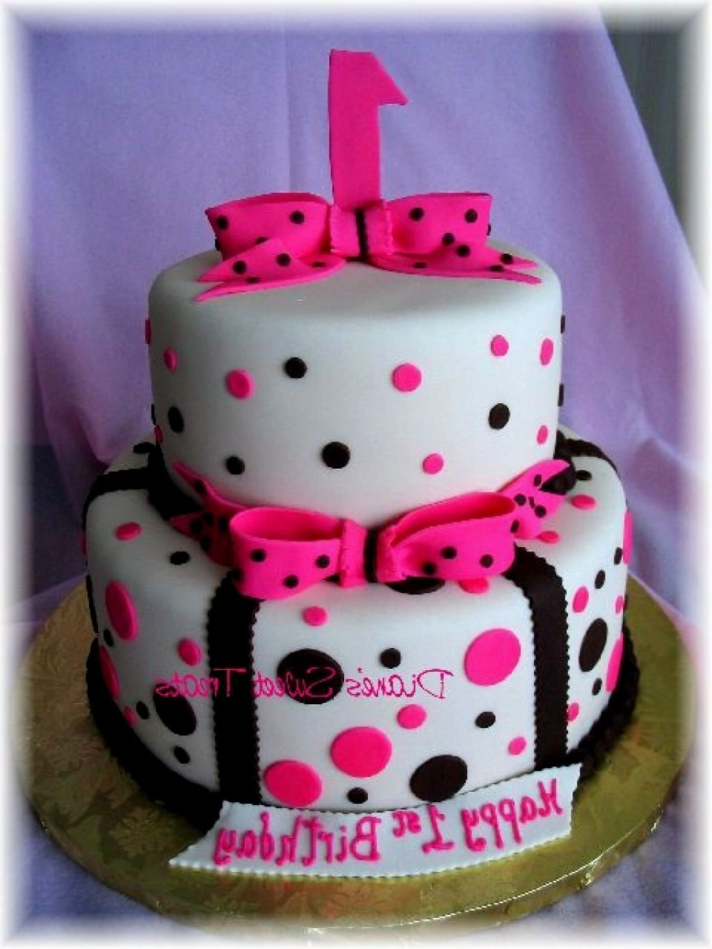 10 Beautiful 1St Birthday Cake Ideas For Girl 1st birthday cake designs for a girl archives decorating of party 2020