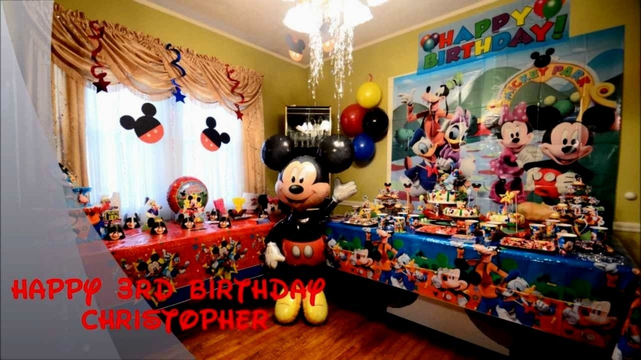 10 Nice Mickey Mouse Birthday Decoration Ideas 1st birthday mickey mouse party ideas decorating of party 1 2020