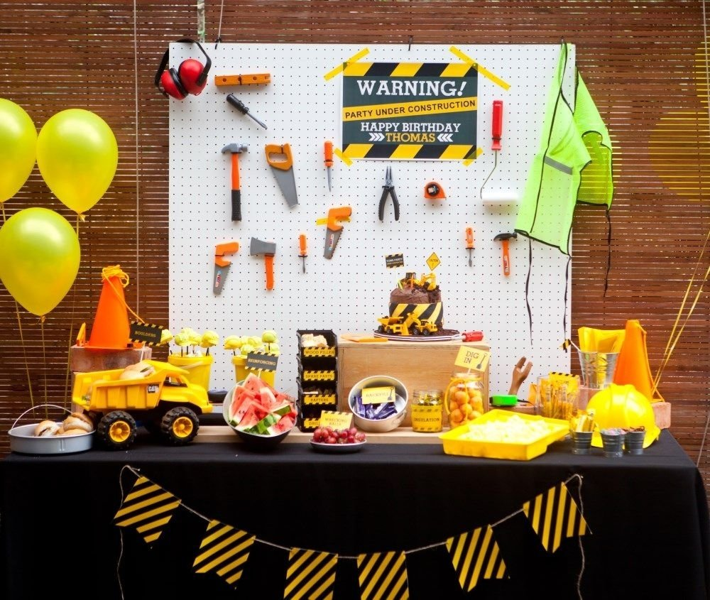 10 Pretty Birthday Ideas For 1 Year Old Boy 1st Party Boys Construction