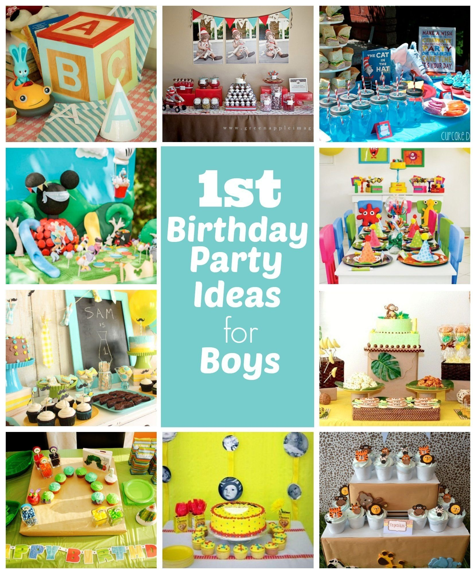 1st birthday party ideas for boys - great ideas including very