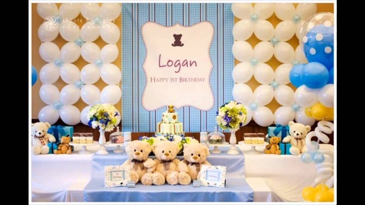 10 Stunning 1St Year Birthday Party Ideas 1st birthday party themes decorations at home for boys youtube 4