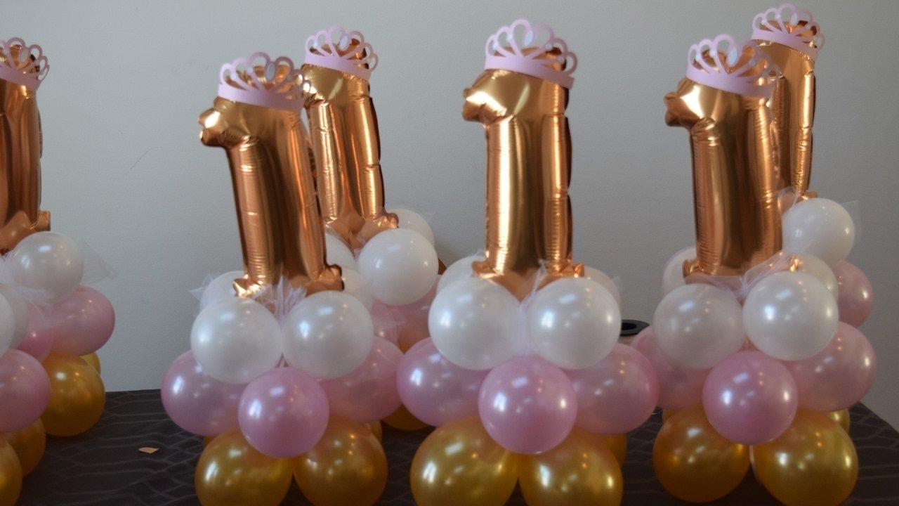 10 Attractive 1St Birthday Princess Party Ideas 1st birthday princess party balloon decoration centerpiece idea easy 2021