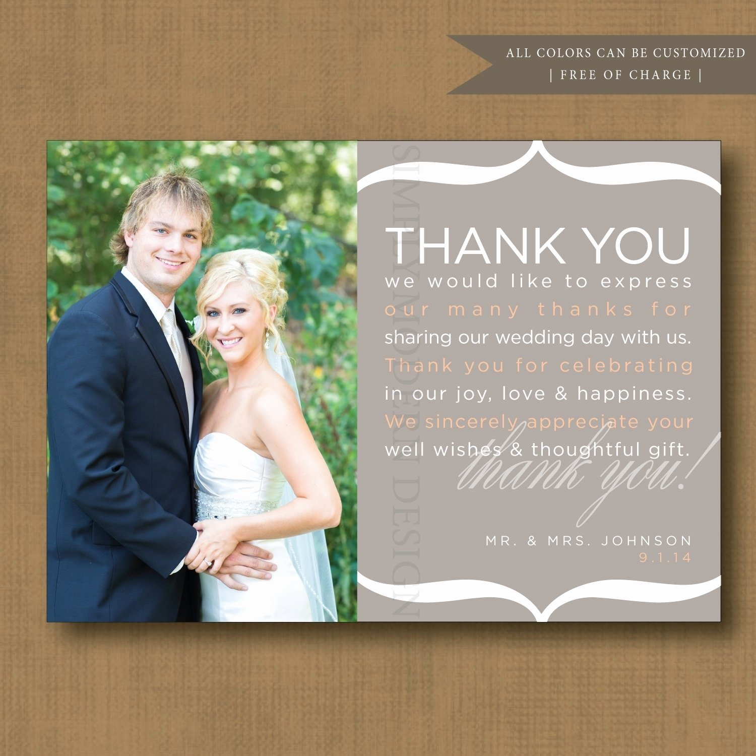 10 Lovely Wedding Thank You Card Ideas 1st birthday thank you card wording luxury unique wedding thank you 2020