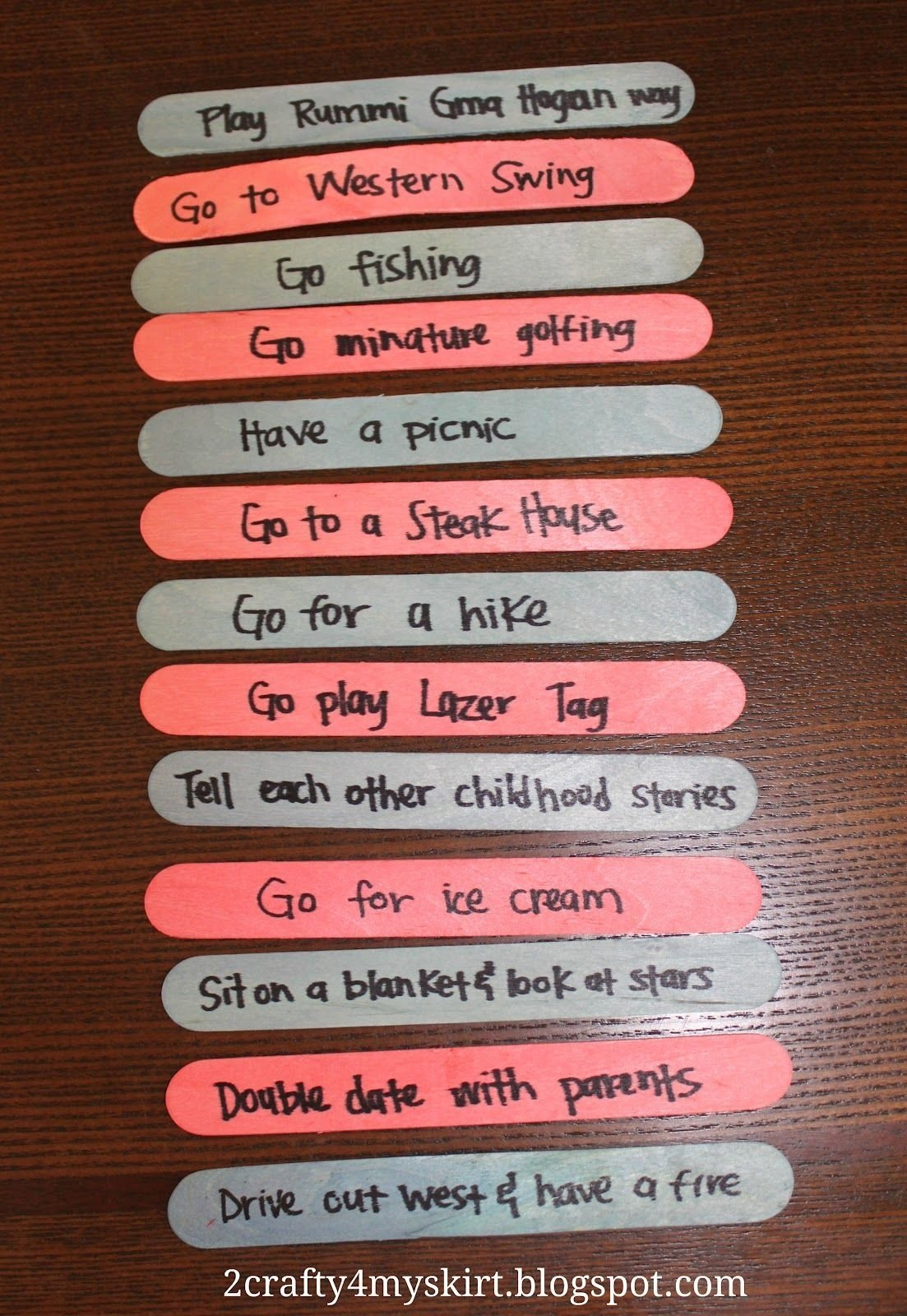 10 Ideal Ideas For Date Night With Wife 2 crafty 4 my skirt date night jar sticks colored based on price 2020