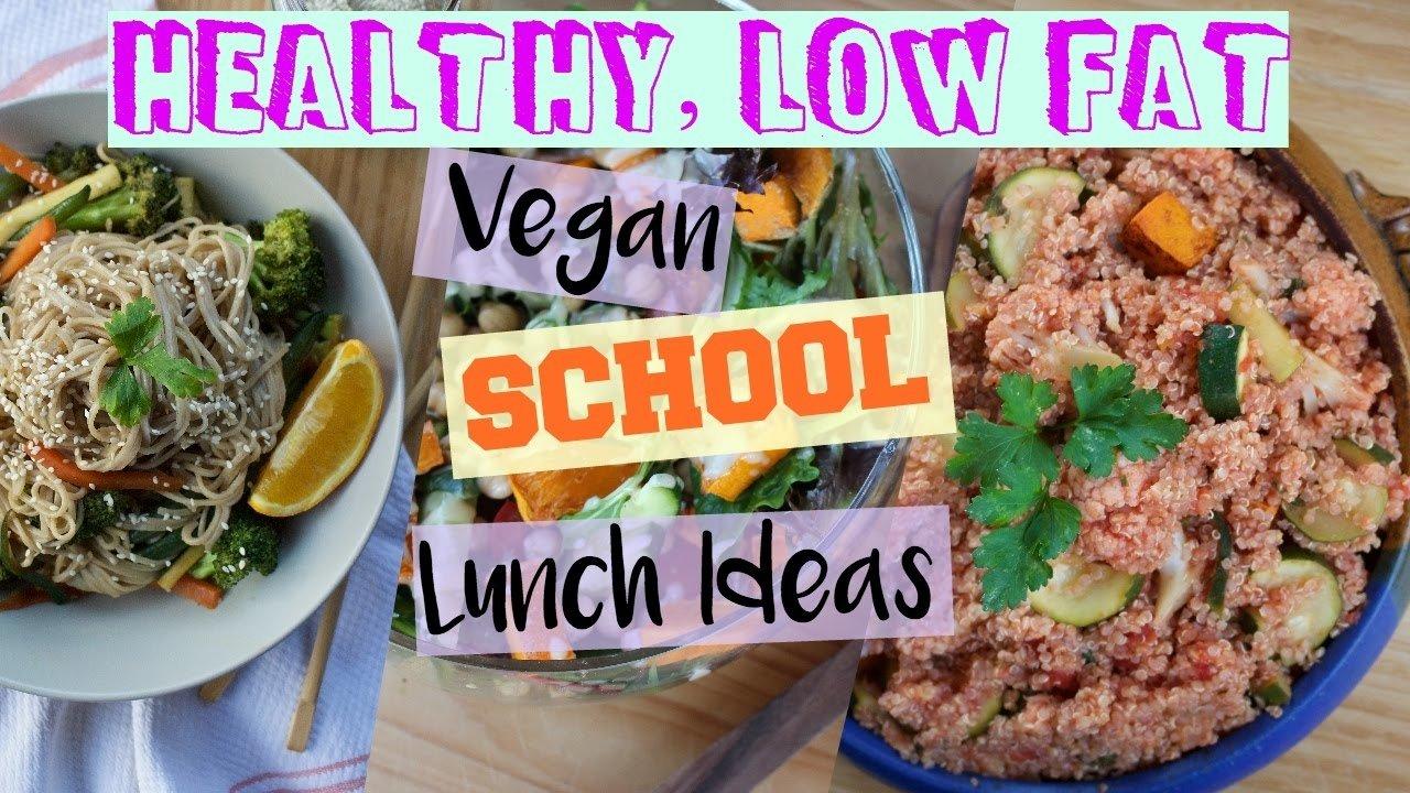 10 Great Low Fat Lunch Ideas For Work 2 easy low fat vegan lunch ideas school work uni youtube
