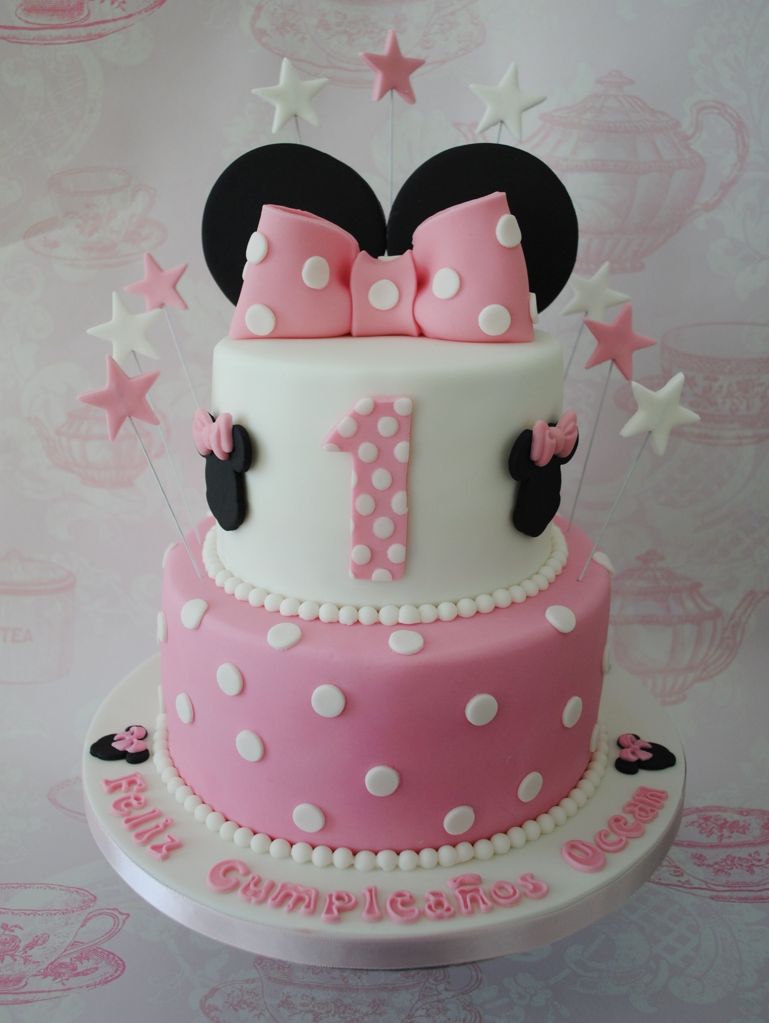 10 Ideal Minnie Mouse Birthday Cake Ideas 2 tiered minnie mouse birthday cake anniversaires gateau et