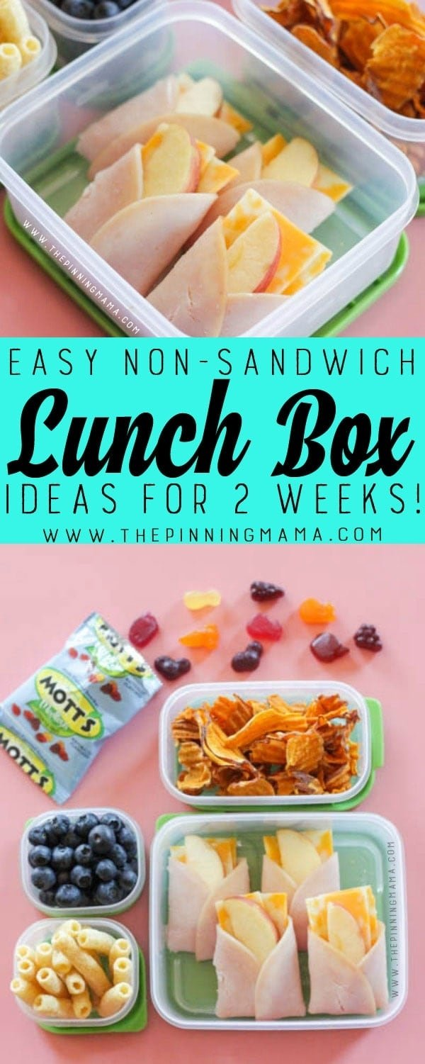 10 Nice Ideas For Kids Lunches For School 2 weeks of no sandwich lunch box ideas kids will love no repeats 2 2021