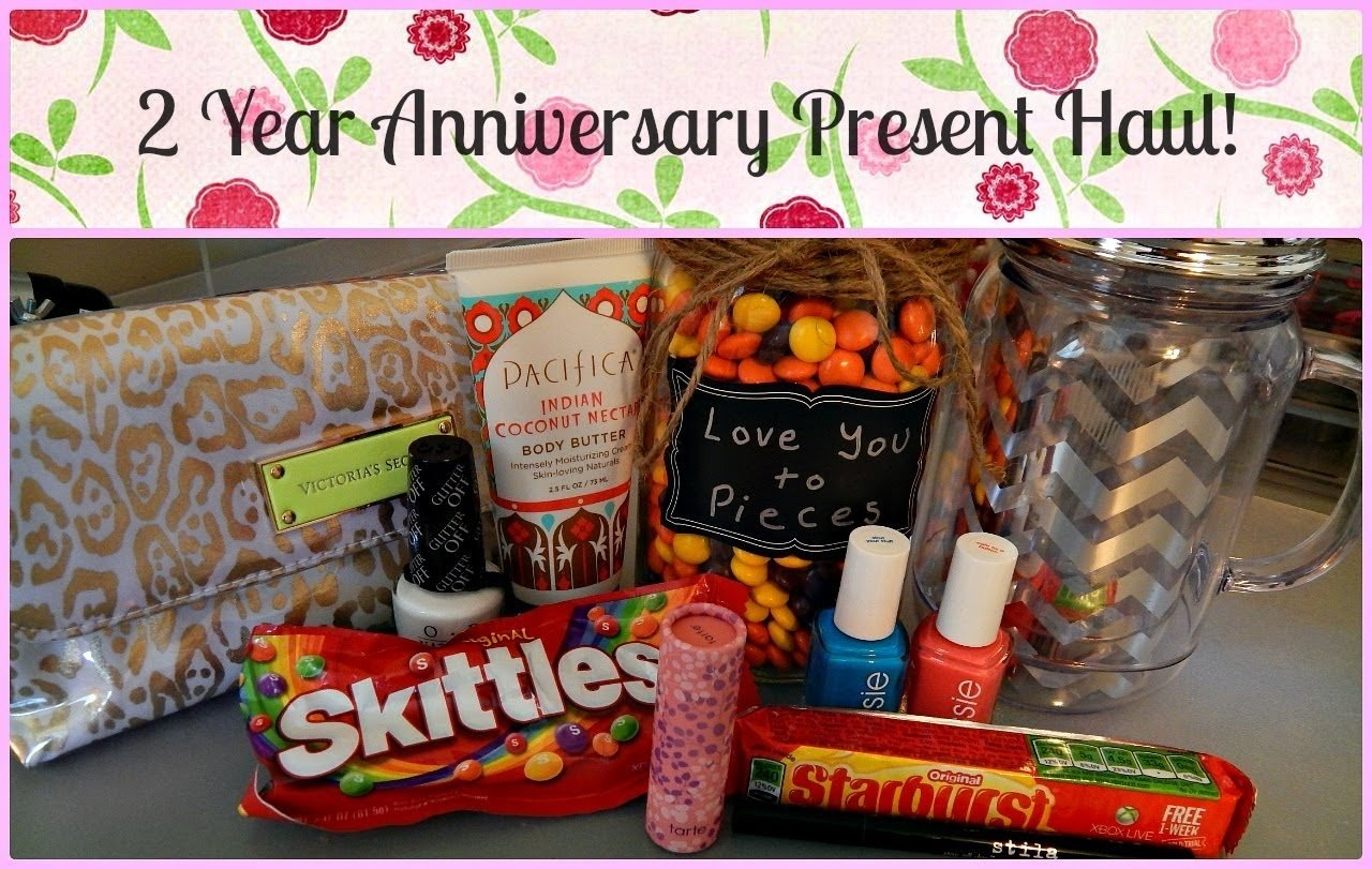 10 Cute Two Year Anniversary Gift Ideas For Him 2 year anniversary present haul stila tarte essie more 6