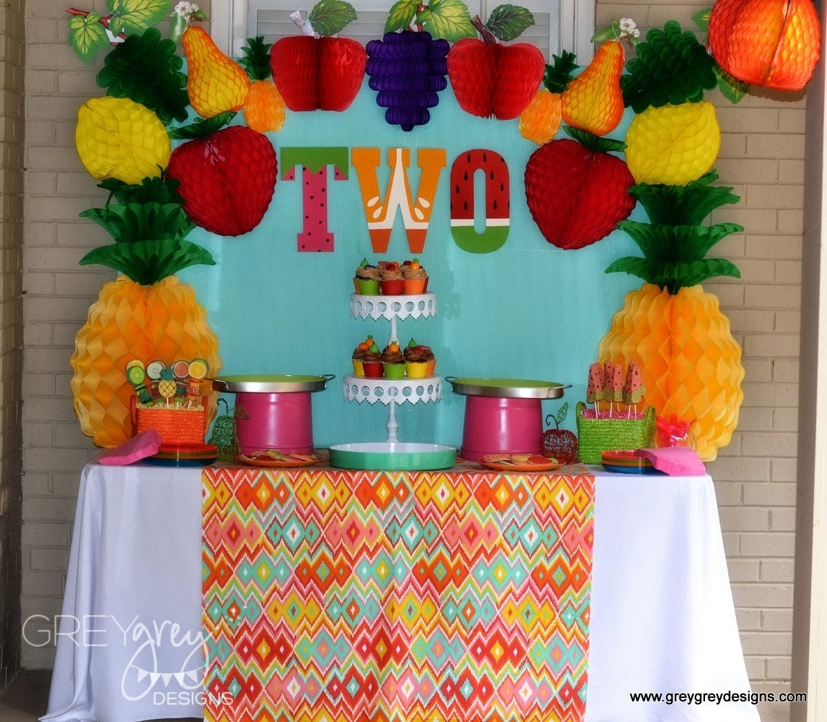 10 Cute Two Year Old Birthday Party Ideas 2 Idea Fruit Theme