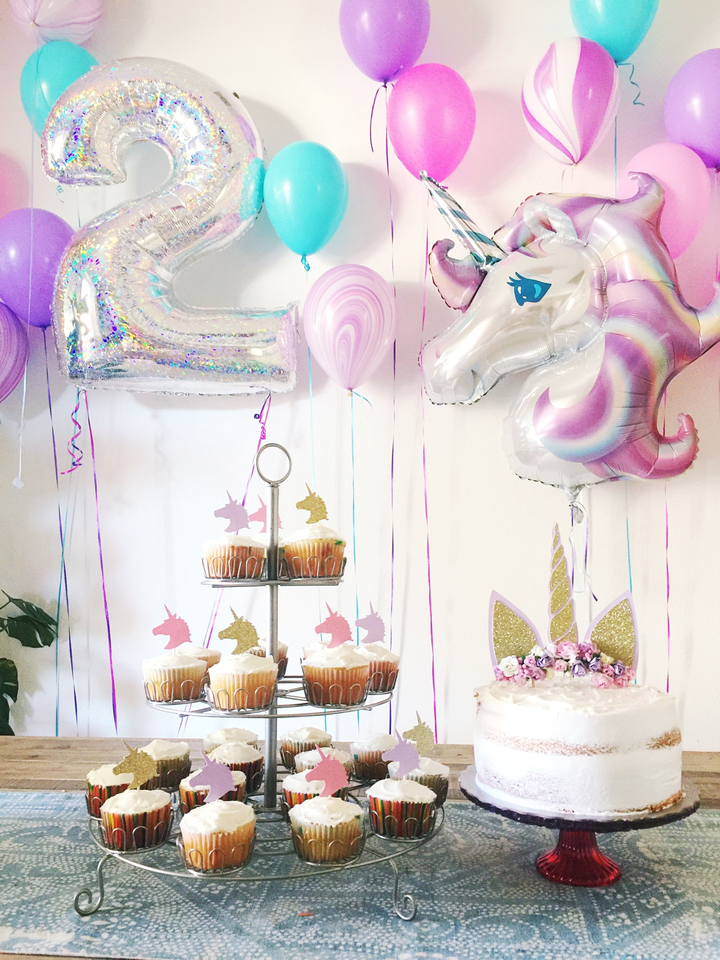 10 Lovely Baby Girl Birthday Party Ideas 2 year old unicorn birthday party party pinterest unicorn 5 2020
