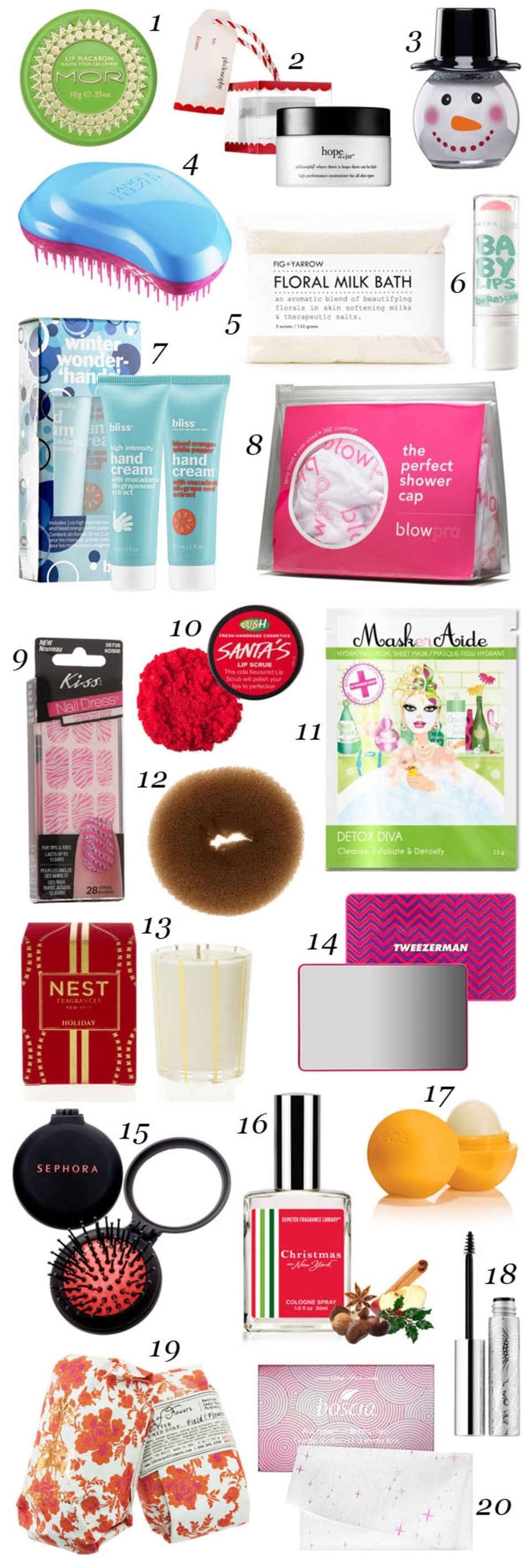 10 Stylish Christmas Gift Ideas For Teenagers 2013 20 beauty stocking stuffer ideas all 20 or less stocking