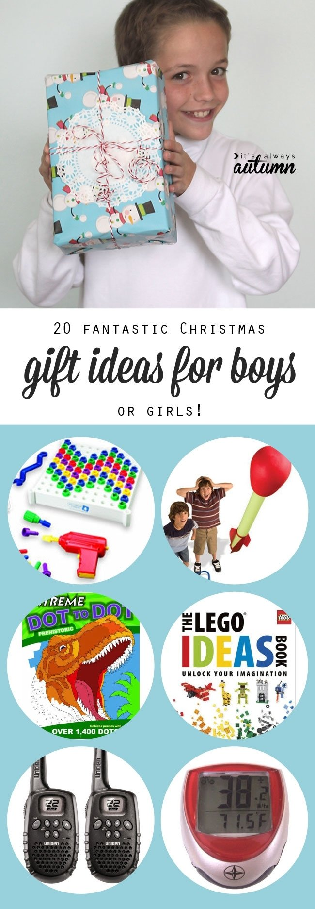 10 Beautiful Great Gift Ideas For Kids 20 best christmas gift ideas for boys its always autumn