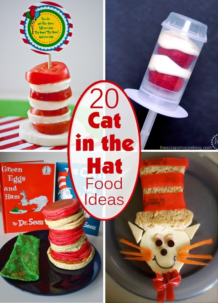 20 cat in the hat inspired food - the scrap shoppe