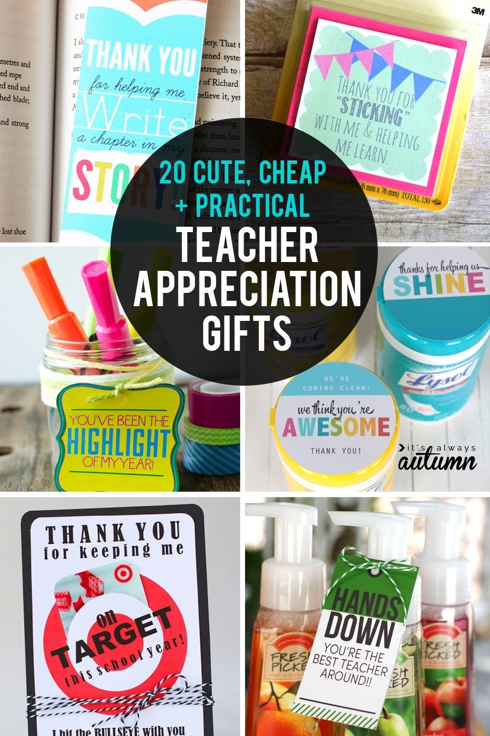 10 Most Recommended Cute Ideas For Teacher Appreciation Week 20 cheap easy cute teacher appreciation gifts its always autumn 2020